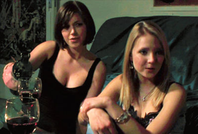 Jessica Timms and Rebecca Pitkin in Dark Journey