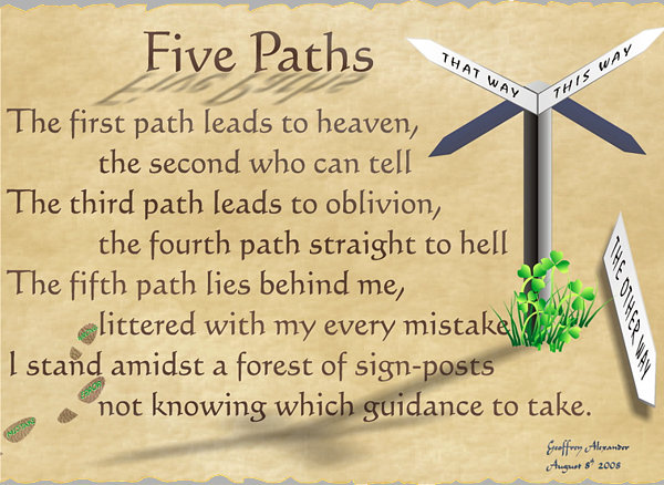 Five Paths verse